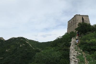 wild part of Badaling Great wall hiking and camping