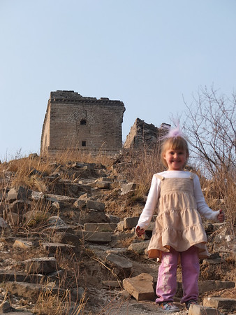 Great wall  hiking with kids in beijing