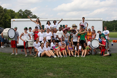 The class of 2011 celebrates the last day of band camp.