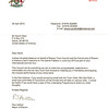 Letter of invitation from the Mayor of Saline's Twin City Brecon, Wales