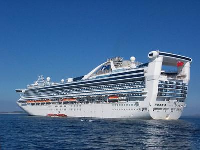Grand Princess docked at St. Peter Port, Guernsey Island