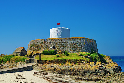 This fort was built to keep Napoleon from taking Guernsey Island.  He never attempted to take the island.