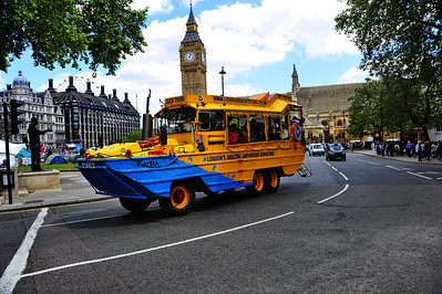 Duck tour bus  London, England
