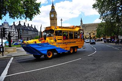 Duck tour bus  London, England