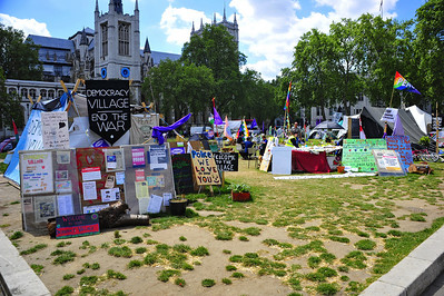 Protesters outside Westminster Abbey  London, England