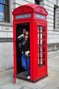 British red phone booth  London, England