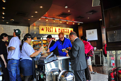 Pret A Manger........lunch  London, England