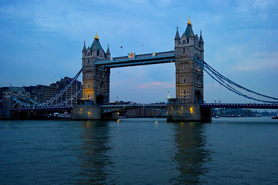 Tower Bridge at twilight  London, England