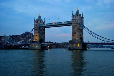 Tower Bridge at twilight  London, England
