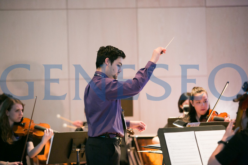 John Coacci '17 conducts musical scores from recent movie releases.