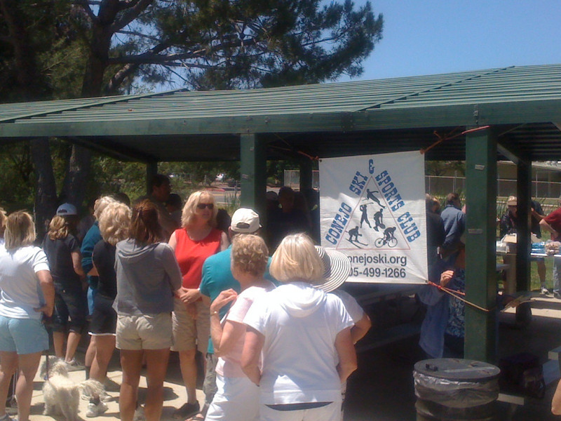 The  Conejo Ski and Sports Club  Picnic. Lots of familiar faces, many new ones too.  Many haven't been together for awhile for a fun day.   (Hmmm, the web site link on the banner is for the 'old' web site - but the link above will take you there.)