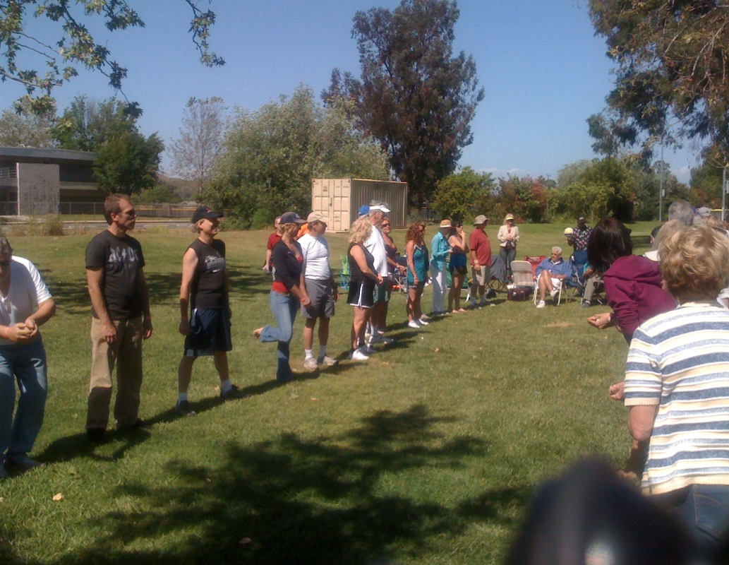 Step back - again - for another egg toss round