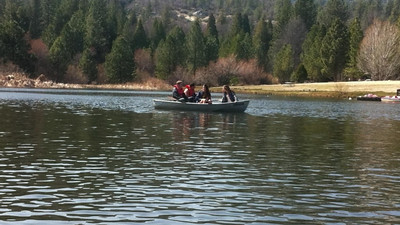 On the R-Ranch Lake - Tevin, Hayden, Cassie, Katie