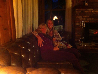 Gracie and Diana warm and cozy in Cabin 203