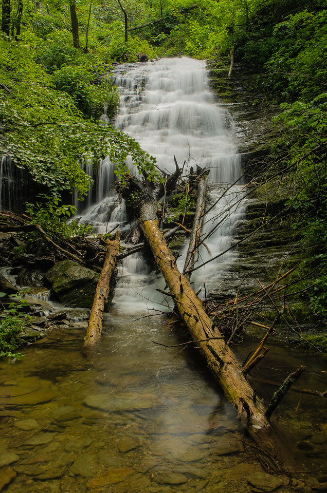 Crooked Arm Cascade on Rich Mountain