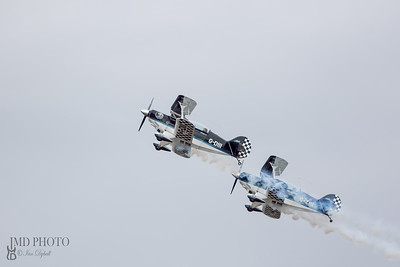 The Wildcats aerobatic display team flying Pitts Special aircraft
