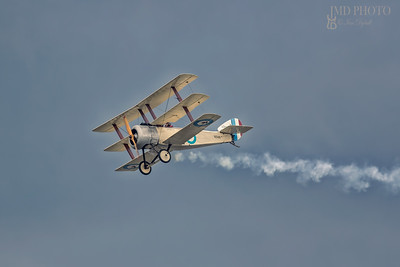 Vintage Sopwith N500 triplane of the Bremont Great War aerobatic display team.