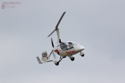 Rotorsport Calidus autogyro flying at the Great Yarmouth airshow 2018