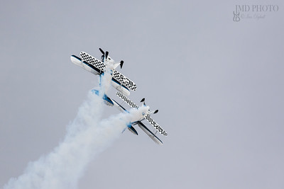 Wildcats aerobatic display team performing a loop the loop at Great Yarmouth.