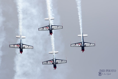 Blades aerobatic display team performing advanced aerial acrobatics