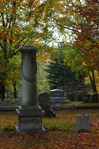 Graves in Mount Auburn Cemetery.