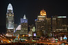Cincinnati Skyline at Night, from Bellevue, Kentucky<br /> <br />  (CAS_3672)