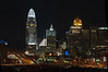 Cincinnati Skyline at Night, from Bellevue, Kentucky<br /> <br />  (CAS_3654)