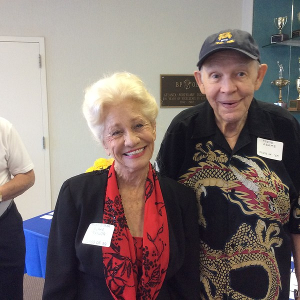 MARY EMMA BURKE TRAYLOR, CLASS OF '59 and FLOYD ADAMS, CLASS OF '57