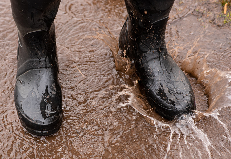 Good Trouble: Boots in muddy water