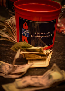 Red  Buckets for Boradway Cares