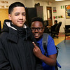 Greater Lowell Boys and Girls Club youth of the year Jeremy Encarnacion, on left, with a friend and member of the club Ian Muiuir, 13. SUN/JOHN LOVE