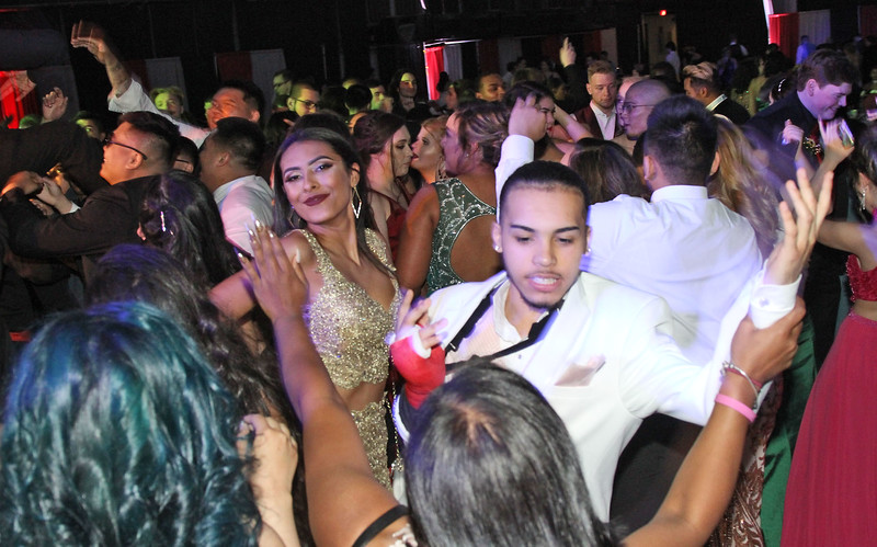 Dancing at the Greater Lowell Tech Prom Night. SUN/David H. Brow