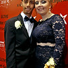Manolo Reyes 18 with his prom date Breeanna Carbonneau 17 at the Greater Lowell Tech Prom. SUN/David H. Brow
