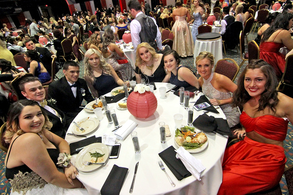 . Prom night for Greater Lowell Tech students at the Boxboro Regency. SUN/David H. Brow