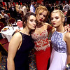 Friends Kendra Marsh 17, Elizabeth Ashton 18 and Katelin Willson 17 at Greater Lowell Tech Prom. SUN/David H. Brow