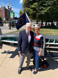 Vietnam veteran Tom Stupakewicz and Auxiliary member Paula Stupakewicz of Tewksbury