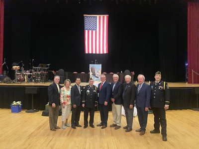 Lowell officials and veterans