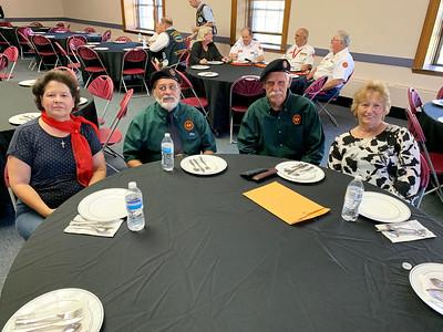 From left, Rita Pinard and Navy veteran Jean Pinard of Dracut, and Army veteran Bob Casper and Denise Casper of Chelmsford