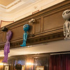 The 2019 Greater New England UFO Conference was held at Leomisnter City Hall on Friday and Saturday, Oct. 4 and 5. These aliens hung at the conference. SENTINEL & ENTERPRISE/JOHN LOVE