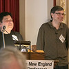 The 2019 Greater New England UFO Conference was held at Leomisnter City Hall on Friday and Saturday, Oct. 4 and 5. Jimmy Pentonito with Bill Hall give a talk on exploring the phantom message phenomenon at the conference. SENTINEL & ENTERPRISE/JOHN LOVE