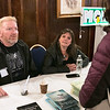 The 2019 Greater New England UFO Conference was held at Leomisnter City Hall on Friday and Saturday, Oct. 4 and 5. Bigfoot investigator Dave McCullough and paranormal investigator Amy Wilkins talk to people at the conference. SENTINEL & ENTERPRISE/JOHN LOVE