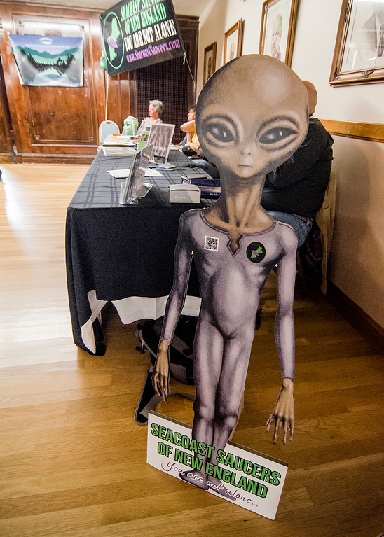 . The Greater New England UFO Conference was held in Leominster on Saturday, October 7, 2017. SENTINEL & ENTERPRISE / Ashley Green