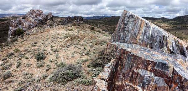 Early Proterozoic, iron-formation, metachert, and siliceous metavolcanic rocks near Dewey, AZ.