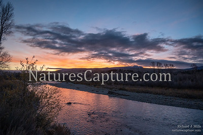 Late fall sunrise on the Gros Ventre River