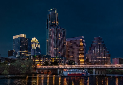 Boat Cruise in Downtown Austin.