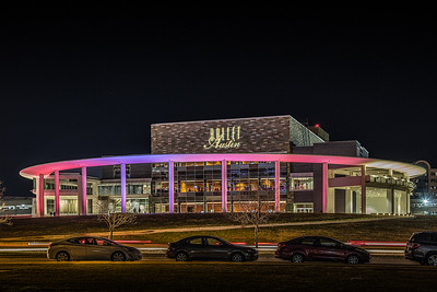 Long Center at night.