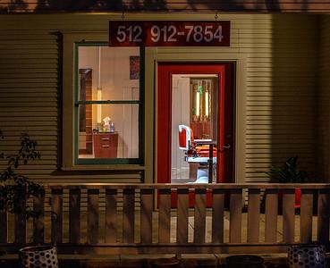 Closed Barber Shop.