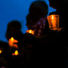 People hold their candles during the candlelight vigil held by Court Appointed Special Advocates for Child Abuse Awarness and Prevention Month at the Mazeppa Union Church in Mazeppa.