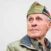 Charles Libby, a 100-year-old World War II Command Car Driver, speaks about his experiences in the war during a talk at the Public Library for Union County on Saturday afternoon.