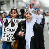Robert Inglis/CNHI  Dr. Badria of Fairfax Virginia marches along with thousands of others during Saturday's Women's March in Washington D.C.